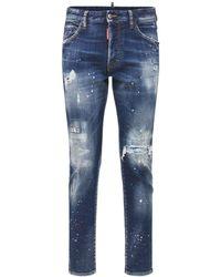 DSquared² Skinny Dan ストレッチコットンデニムジーンズ - ブルー