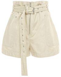 Étoile Isabel Marant Parana Heavy Cotton Shorts - Natural