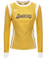 Nike Lakers Nrg Ir ナイロンブレンドトップ - オレンジ