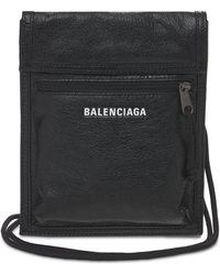 Balenciaga Кожаный Клатч Small Explorer - Черный