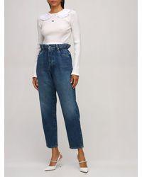 Miu Miu Jeans Pierna Recta De Denim De Algodón - Azul