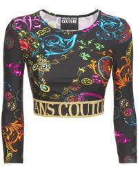 Versace Jeans Couture Oberteil Aus Jersey Mit Baroque-druck - Mehrfarbig
