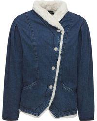 Isabel Marant Джинсовая Куртка Из Хлопкового Денима - Синий