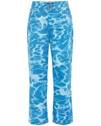 Jaded London Swimming Pool Printed Skate Jeans - Blue