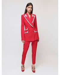 Dolce & Gabbana ストレッチウールブレンドジャケット - レッド