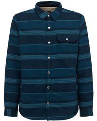 The North Face Campshire Cotton Fleece Shirt - Blue