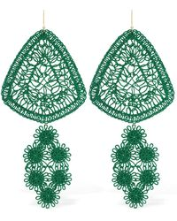 Stella McCartney Lvr Sustainable Cotton Thread Earrings - Green
