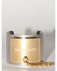 DSquared² Lvr Exclusive Brass Cuff - Metallic