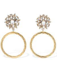 Shourouk Tina Big Hoop & Crystal Earrings - Metallic