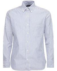 Tom Ford Camicia In Cotone - Blu