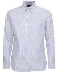 Tom Ford Striped Cotton Shirt - Blue
