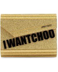 """Jimmy Choo - """"candy """"""""i Want Choo"""""""" Glittered Clutch"""" - Lyst"""