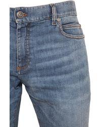 Balmain 12.5cm Ultraenge Jeans Aus Baumwolldenim - Blau