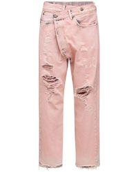 R13 Jeans Aus Baumwolldenim - Pink