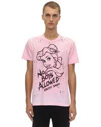 DOMREBEL Princess Destroyed Cotton Jersey T-shirt - Pink