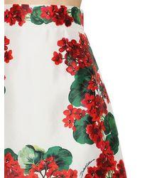 Dolce & Gabbana Minirock Aus Seidenmikado - Rot