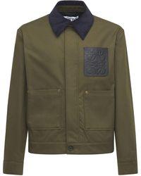 Loewe Workwear コットンギャバジンジャケット - グリーン