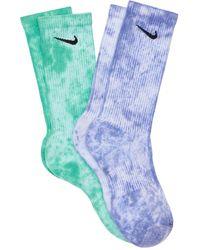 Nike Set: 2 Paar Crew-socken Mit Logo - Blau