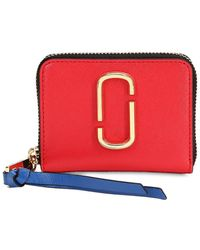 Marc Jacobs - Mini Leather Zip Around Wallet - Lyst