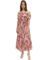 Borgo De Nor - Agata Twill Off-the-shoulder Midi Dress - Lyst