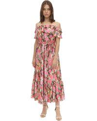 Borgo De Nor Платье Из Шелковой Саржи - Многоцветный