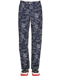 KENZO Allover Marina Print Cotton Blend Jeans - Blue