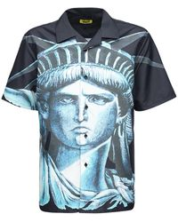 Chinatown Market Nyc ナイロンボウリングシャツ - ブルー