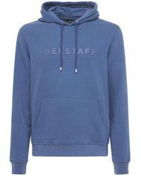 Belstaff コットンスウェットフーディー - ブルー