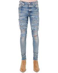 Amiri Jeans Pj Thrasher In Denim Di Cotone - Blu
