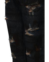 424 Indigo Dark Wash Destroyed Denim Jeans - Blue
