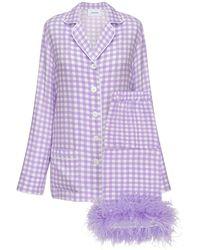 Sleeper Party-pyjama Mit Federn - Lila