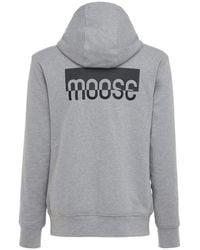 Moose Knuckles Chilloyneys ジップアップコットンフーディー - グレー