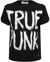 "Vivienne Westwood T-shirt ""lady Punk"" In Cotone - Nero"