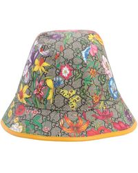 Gucci Floral Gg Supreme Bucket Hat - Multicolor