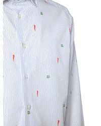 Etro Хлопковая Рубашка С Вышивкой - Белый