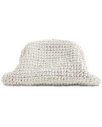 Bottega Veneta The Pouch Crochet Leather Bag - White