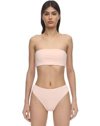 AEXAE Lycra & Nylon Bandeau Bikini Top - Многоцветный