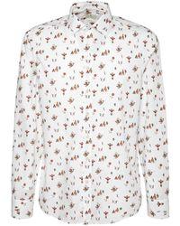 Etro Хлопковая Рубашка С Принтом - Белый