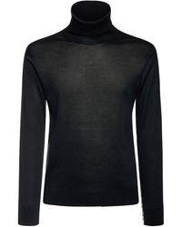 Versace Водолазка Из Полушёлкового Трикотажа - Черный
