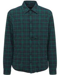 Sease パデッドバイストレッチナイロンシャツジャケット - グリーン