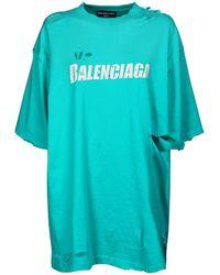 Balenciaga - オーバーサイズオーガニックコットンジャージーtシャツ - Lyst