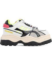 """Eytys Sneakers """"Grand Prix"""" De Piel Con Plataforma - Multicolor"""