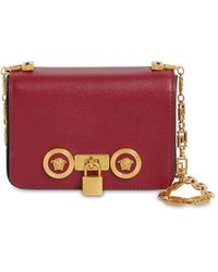 Versace Mini Icon Leather Bag - Red
