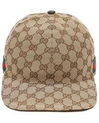 Gucci Casquette de base-ball avec détail bande Web - Neutre