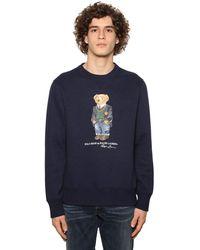 Polo Ralph Lauren Sweatshirt Aus Baumwolle Mit Druck - Blau