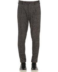 PT01 - Pantaloni Preppy Fit In Lana Principe Di Galles - Lyst