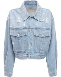 Givenchy クロップデニムジャケット - ブルー