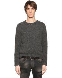 Etro - Alpaca & Wool Raw Hem Knit Sweater - Lyst