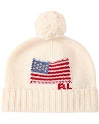 Polo Ralph Lauren Logo Intarsia Merino Wool Beanie Hat - Multicolor