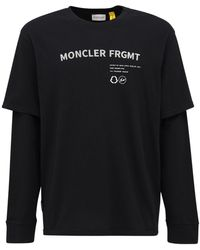 Moncler Genius Футболка Из Джерси Fragment - Черный